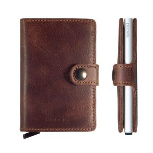 Miniwallet Vintage Leather Brown
