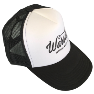 Trucker Old Logo Black and White Cap