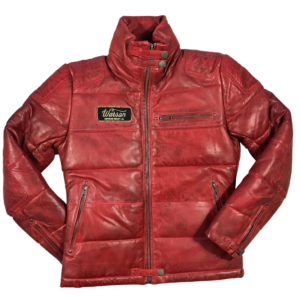 Biker Down Jacket Sheep Red Women