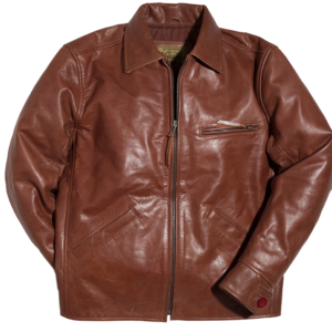 Golden Racer Leather Brown Jacket