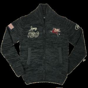 Knit Track Jacket Carbone Men