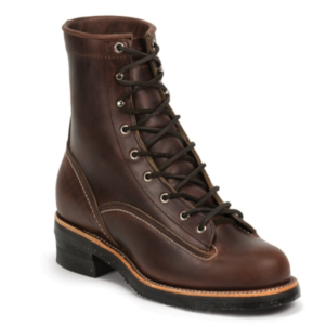 """MEN'S 1935 8"""" ORIGINAL CHOCOLATE MOUNTAINEER LOGGER RUGGED OUTDOOR BOOTS"""