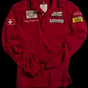 Polo Clay Regazzoni Long Sleeve Red Men
