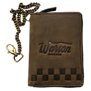 Vertical Wallet With Chain Brown