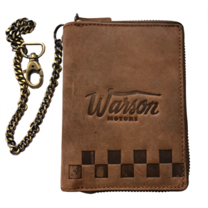 Vertical Wallet With Chain Tan