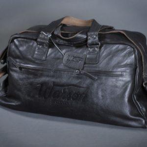sac voyage warson motors cuir noir