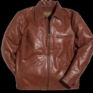 Golden Racer Leather Brown Jacket
