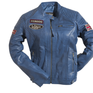 Grand Prix Leather Woman Jacket Blue