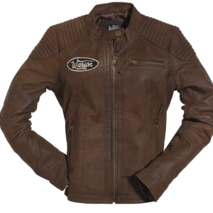 Grand Prix Leather Woman Jacket Brown