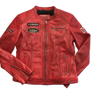 Grand Prix Leather Woman Jacket Red