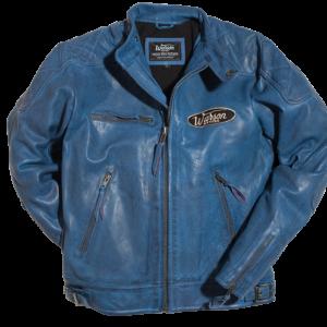 Motorcycle Leather Jacket Blue