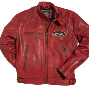Motorcycle Leather Jacket Red
