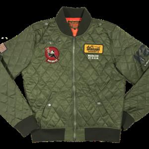 Avenger_Bomber_Jacket_Kaki_Warson_Motors